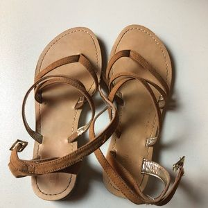 Mossimo Light Brown/Tan Sandals Size 6 Women's